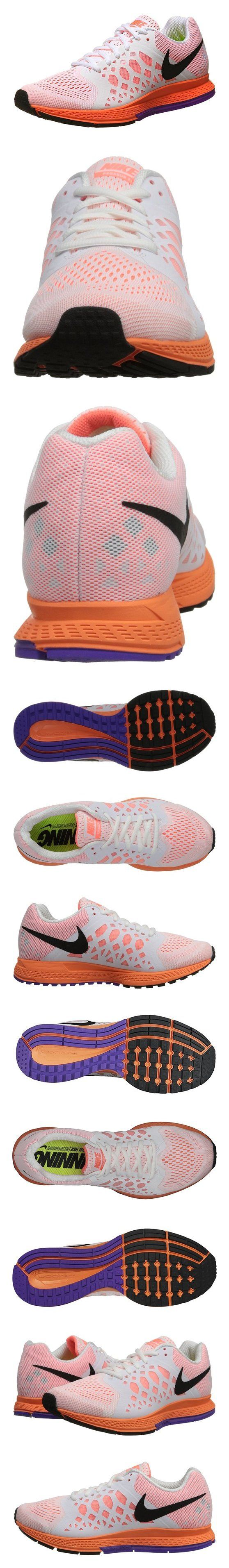 Nike Women's Zoom Pegasus 31 White/Black/Brght Mng/Hypr Grp Running Shoe 8 Women US #shoes #nike