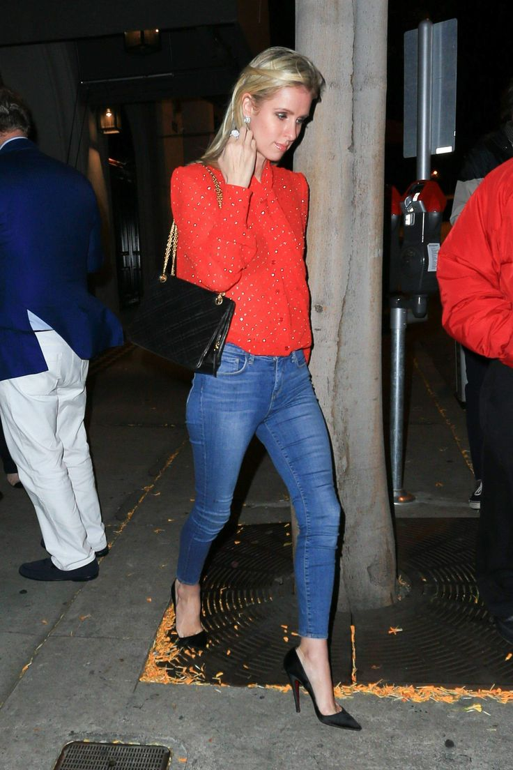 Nicky Hilton - Leaving Craig's in West Hollywood 4/8/17