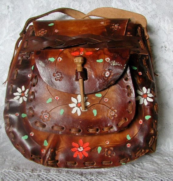 Vintage #Hippie ~ # Boho Chic Style Tooled Leather Purse