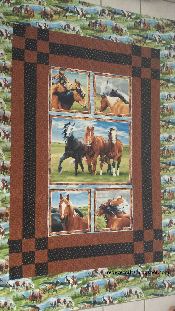 12 best horse quilt fabrics images on Pinterest | Pferde quilt ...