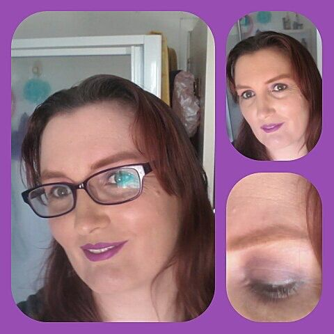 Purple makeup using mostly Wendy Hill Cosmetics.
