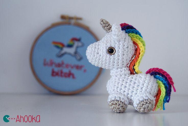 Tiny unicorn crochet amigurumi (free pattern) by Ahookamigurumi.deviantart.com on @deviantART