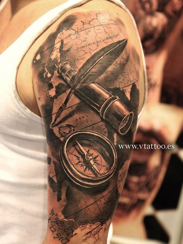 Best 25 compass and map tattoo ideas on pinterest compass 60 amazing 3d tattoo designs cuded gumiabroncs Choice Image