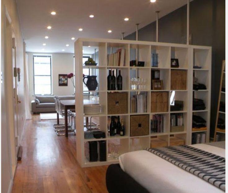 Bookshelf divider apartment ideas pinterest apartments and apartment ideas - Bibliotheque escalier ikea ...