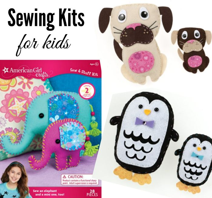 These easy sewing kits for kids make great Christmas gifts for children that sew…