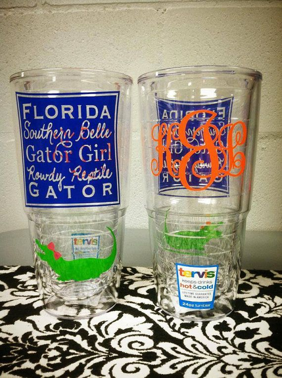 soooo cute Southern Belle Gator Girl 24 oz. Tervis Tumbler by SouthardBelle, $35.00