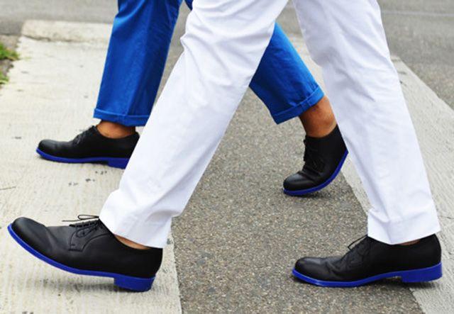 Blue soles