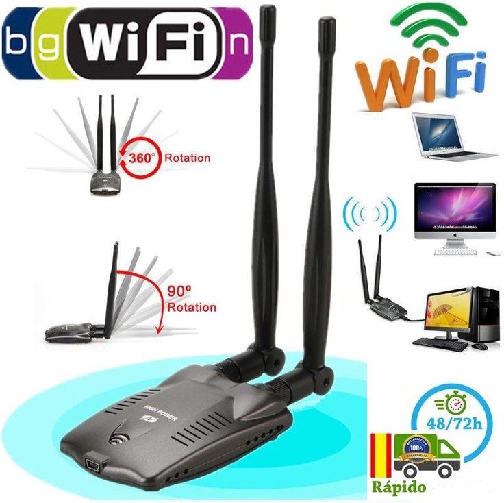 3000MW Alta Potencia Adaptador Inalámbrico USB WiFi tarjeta de red 150 Mbps