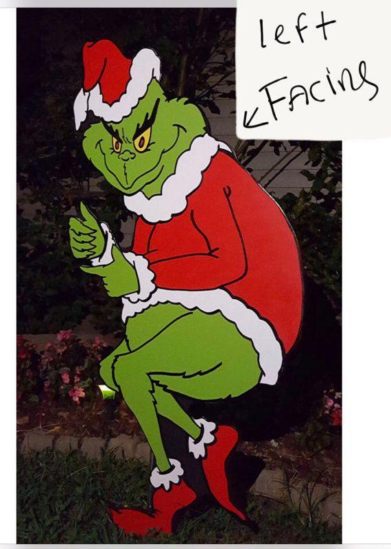 Grinch Yard art The Grinch is stealing Christmas by HashtagArtz