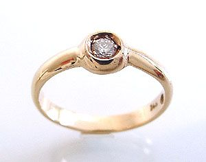 Diamond Solitaire 14kt Ring