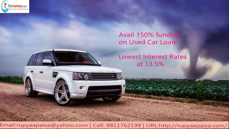 Buy UsedCarLoan with LowestInterestRates starting at 13