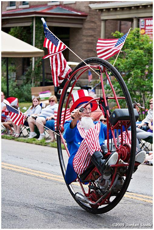 Love the annual Doo Dah Parade Columbus, Ohio. Uncle Sam on a Monocycle. Jordan Steele. 2009.