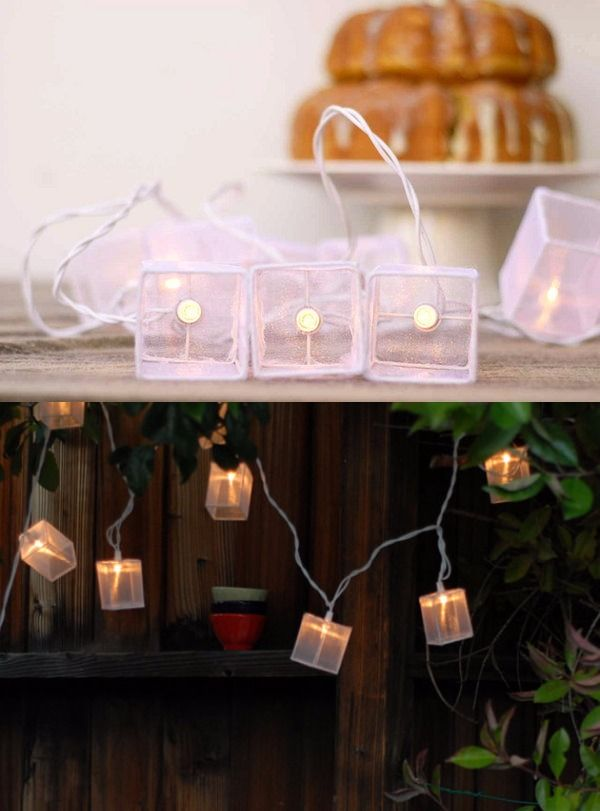 Lamparitas de boda DIY recubiertas con tela / http://www.projectwedding.com/