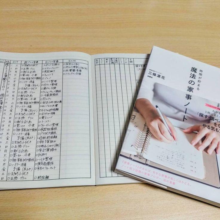 いいね!70件、コメント5件 ― yukari...さん(@yukari02170422)のInstagramアカウント: 「*. ・ この本に出会ってから作成したくてウズウズしていた家事ノート遂に完成4月から使い始めます! ・…」