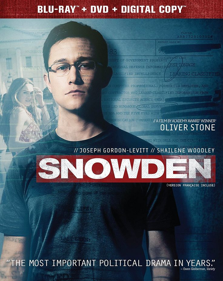 Snowden (2016) ... The politically-charged, pulse-pounding thriller reveals the incredible untold personal story of Edward Snowden (Joseph Gordon-Levitt), the polarizing figure who exposed shocking illegal surveillance activities by the NSA & became one of the most wanted men in the world. Considered a hero by some, a traitor by others. No matter which you believe, the epic story of why he did it, who he left behind & how he pulled it off makes for one of the most compelling films…