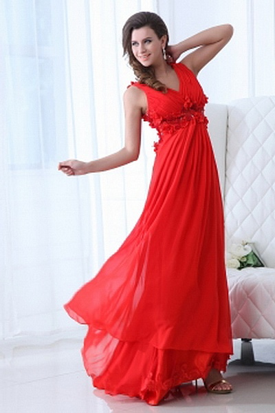 Chiffon Classic V-Neck Cocktail Dresses wr2404 - http://www.weddingrobe.co.uk/chiffon-classic-v-neck-cocktail-dresses-wr2404.html - NECKLINE: V-Neck. FABRIC: Chiffon. SLEEVE: Sleeveless. COLOR: Red. SILHOUETTE: A-Line. - 144.59
