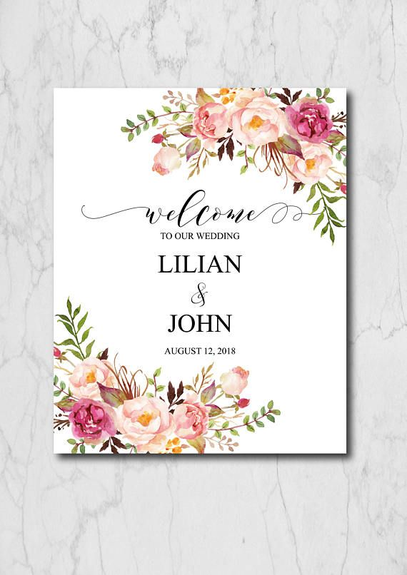 Boho Chic Welcome To Our Wedding, Welcome Wedding Sign