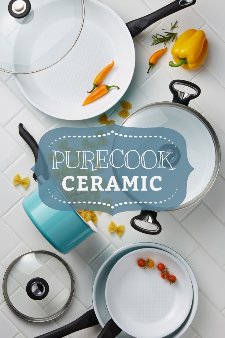 Farberware PURECOOK Ceramic Nonstick: With cutting-edge ceramic nonstick performance, colorful dishwasher-safe exteriors, and innovative quilted surface technology so your family can keep exploring what's fresh and delicious.