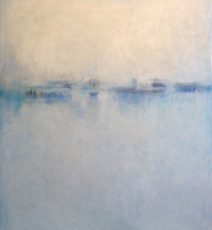 "Saatchi Online Artist: Janise Yntema; Encaustic Wax, Painting ""Diffused Light II"""