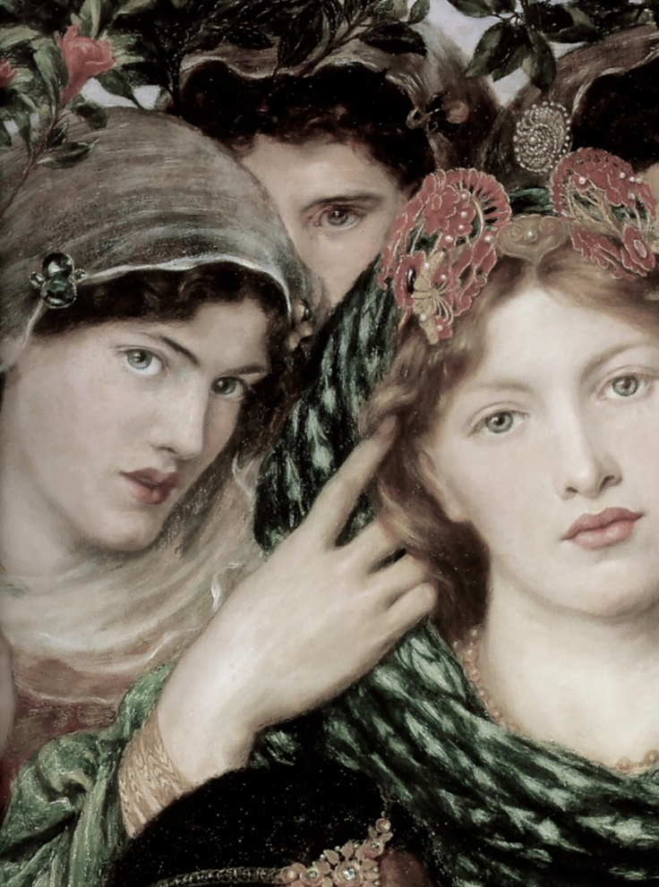 The Beloved (detail), Dante Gabriel Rossetti, 1865