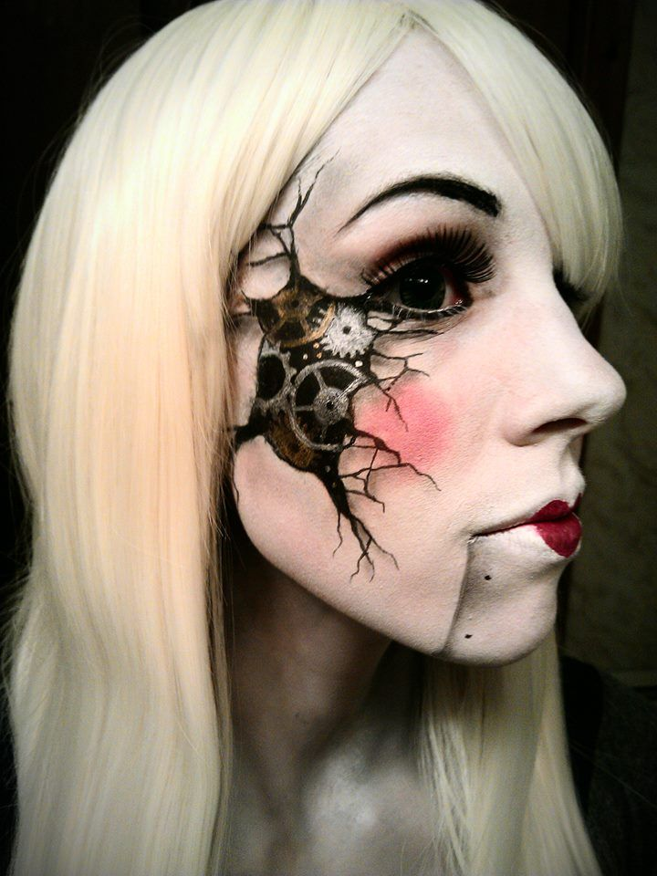 Awesome steampunk doll makeup deviantART: More Like Wreck-It Ralph Vanellope Cosplay for Anime Central by ~AsSeenOnStevie