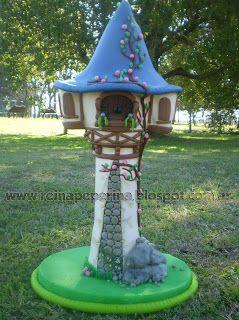 Nueva torre de Rapunzel En porcelana Fría