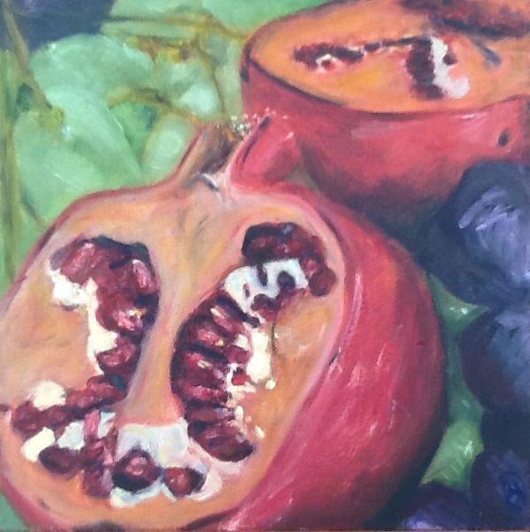 Pomegranates by Simone Dole
