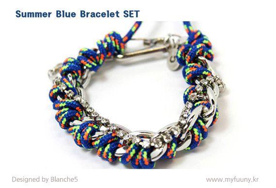Summer Blue Bracelet Set by Myfunny on Etsy, $25.55