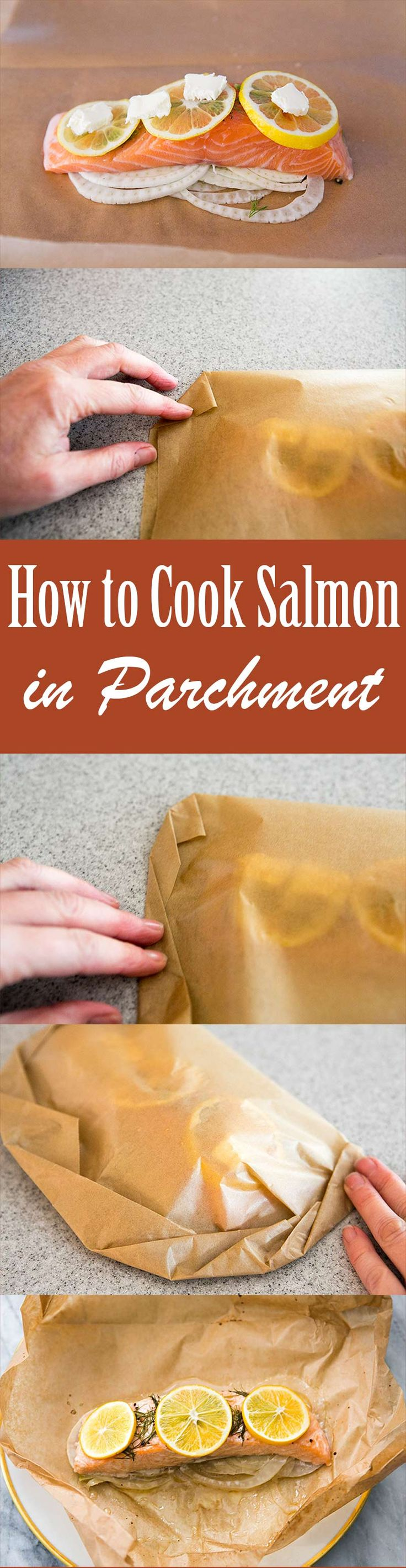 Cook salmon fillets in parchment pockets, it's EASY! Here's a quick tutorial how.