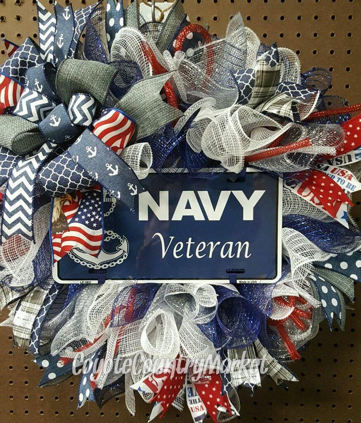 Custom Order For Frederick-US Navy Veteran Mesh Wreath-Navy Wreath-Military Door Wreath-Veteran Wreath-US Navy Decor-United States Navy by CoyoteCountryMarket on Etsy