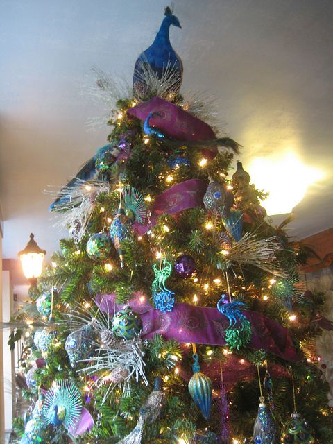 112 best Peacock Christmas images on Pinterest Peacock ornaments - peacock christmas decorations