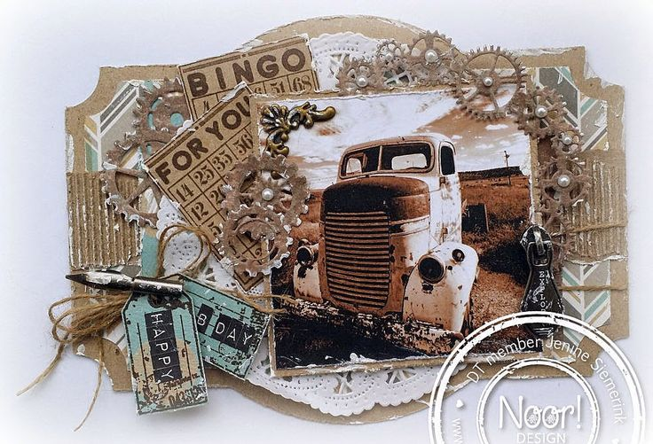 Jenine's Card Ideas: Vintage car