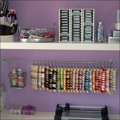A great idea for ribbon storage