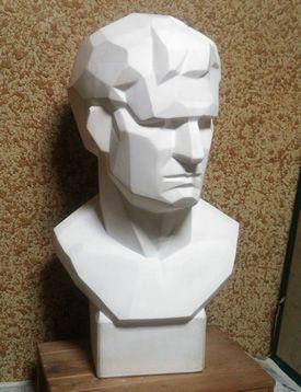 モチーフの石膏デッサン-アグリッパ(面取り)