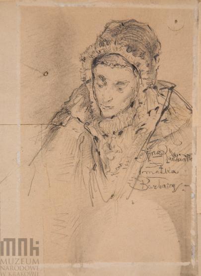 Szkic postaci - Popiersie kobiety w czepku