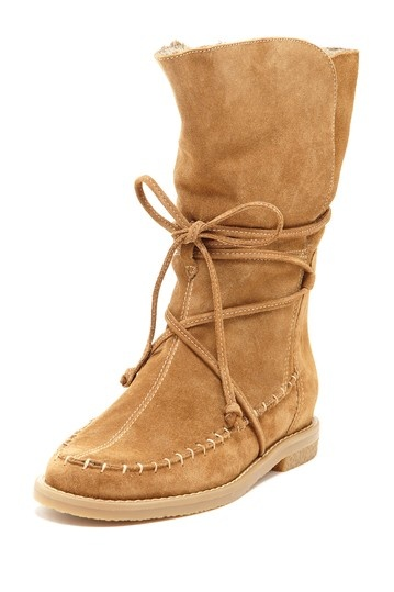 Jack Rogers Little Nell Faux Fur Moccasin Boot