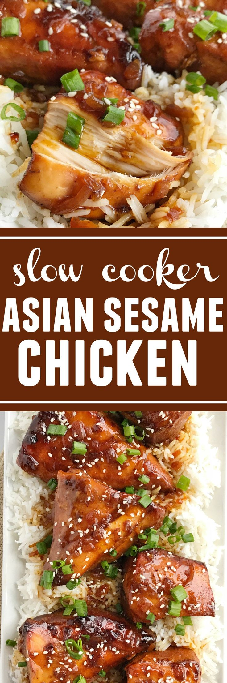 4 Ingredient Slow Cooker Asian Sesame Chicken recipe.