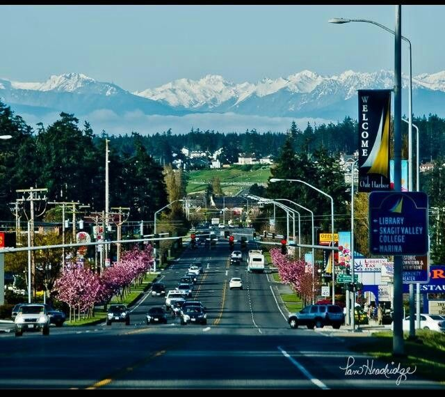 City my hubby works in..Oak Harbor, WA look at that view..