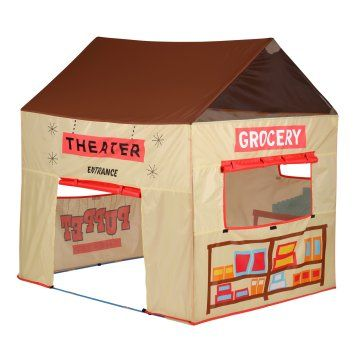 Pacific Play 2-in-1 Grocery/Puppet Theater House Tent