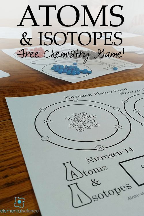 Learn about atoms and isotopes with this free game for chemistry!