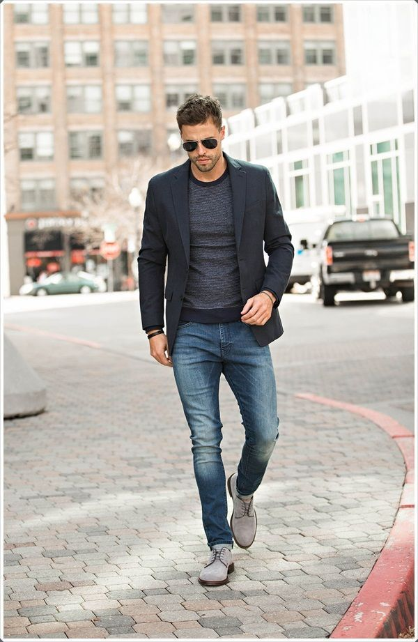 pe picioare la potrivire clasică produs fierbinte Black Blazer Outfit for men is very famous among young college ...