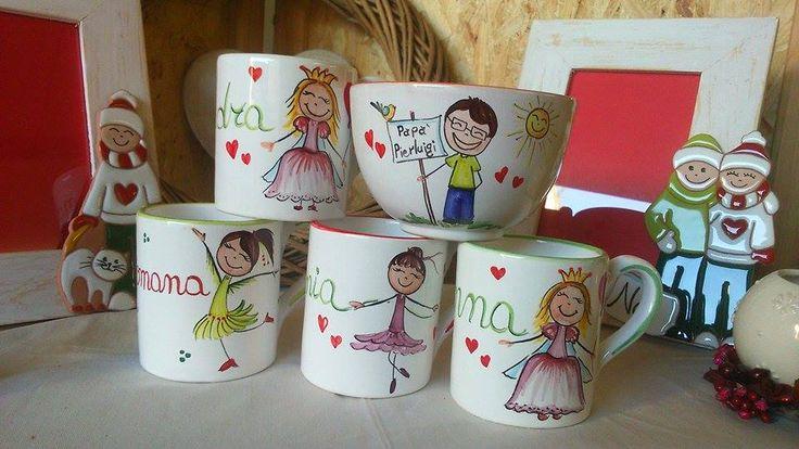 Tazze Mug con principesse, ballerine...e papà