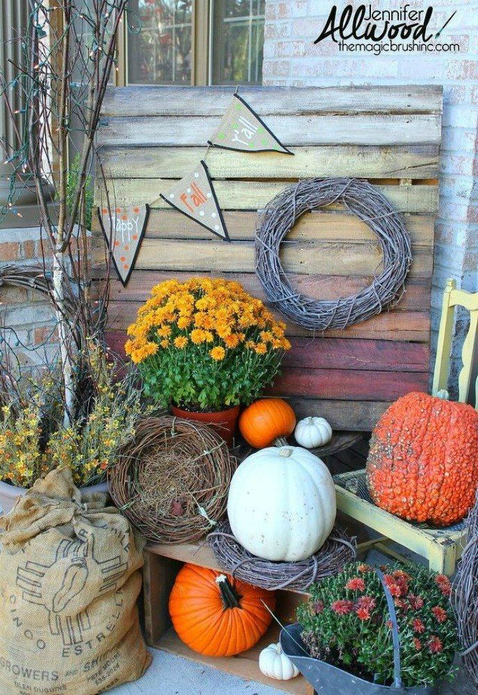 Grab your pumpkin spiced latte, and get ready to be inspired by these 17 Fall Porch Ideas