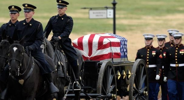 Columnist wants to end military funeral honors for vets who 'did nothing heroic'.  Help USTaps.org fight back.