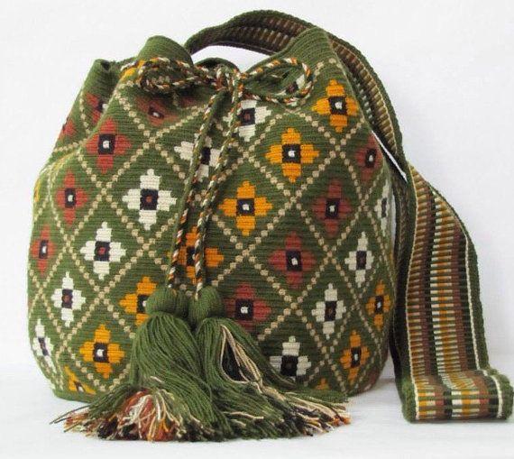 Wayuu Mochila Bag shoulder Bag boho tribal bag Sac a by PavanaFit