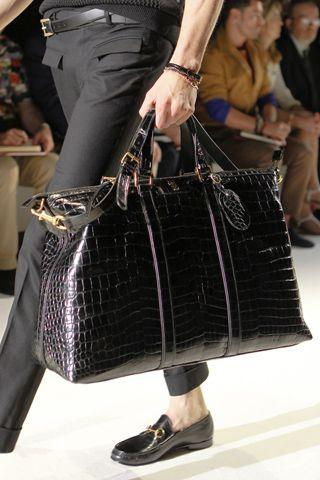 Gucci - SS 2013 - Black croc travel bag