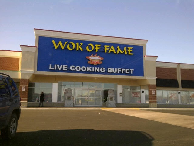 Wok of Fame- 7700 Hurontario Street, Brampton, Canada.   Great live cooking. Stay away from the pre-cooked table!