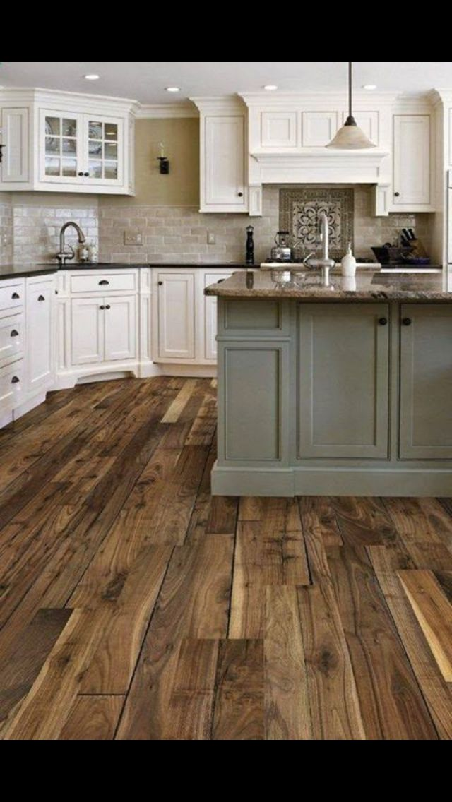 Pinterest Two Tone Kitchen Cabinets With Vinyl Flooring