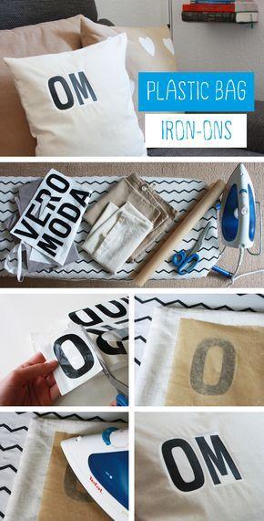 Unglaublich! Kissen bedrucken mit Plastiktüten. Es funktioniert wirklich! Der e… – Franzi