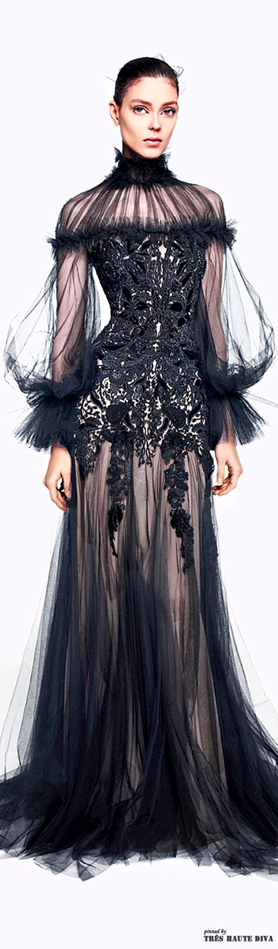 Alexander McQueen Couture. That is one sexy dress. I love the lace bodice and the way it cascades down. Beautiful. Find more beautiful dress at a discount on website. Click the Pin to take you there